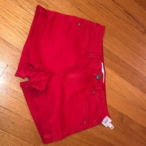 RSQ RED DENIM SHORTS SIZE 1